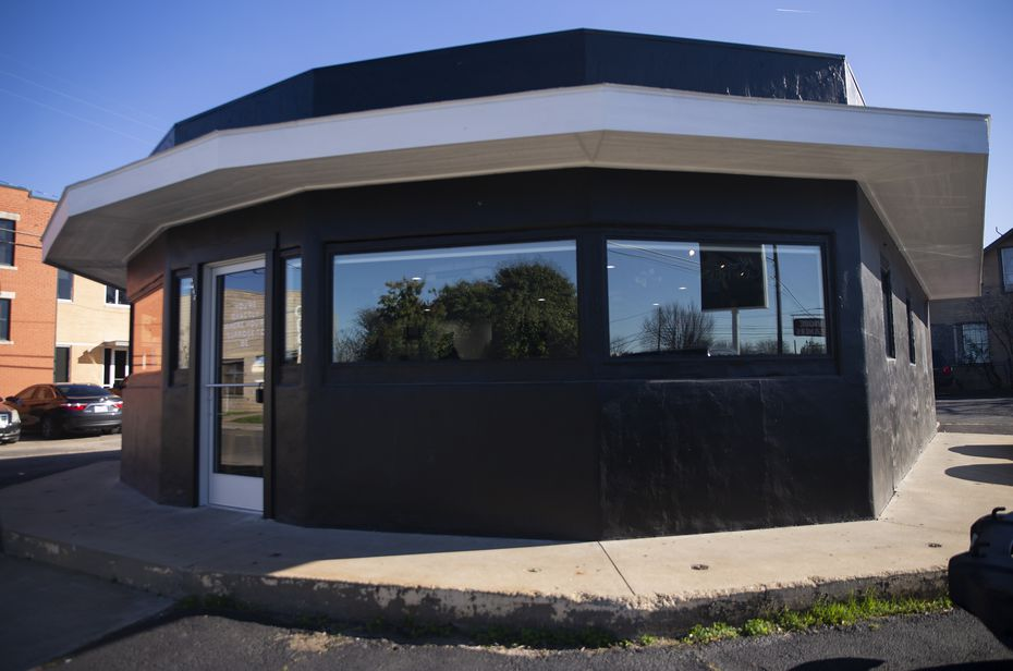 Black Coffee is located in an oddly-shaped building that's well known in its East Fort Worth neighborhood.