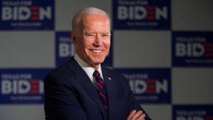 Former Vice President and Presidential Candidate Joe Biden poses for a portrait before an interview on Wednesday, January 15, 2020 at the Arlington Sheraton in Dallas. (Ashley Landis/The Dallas Morning News)