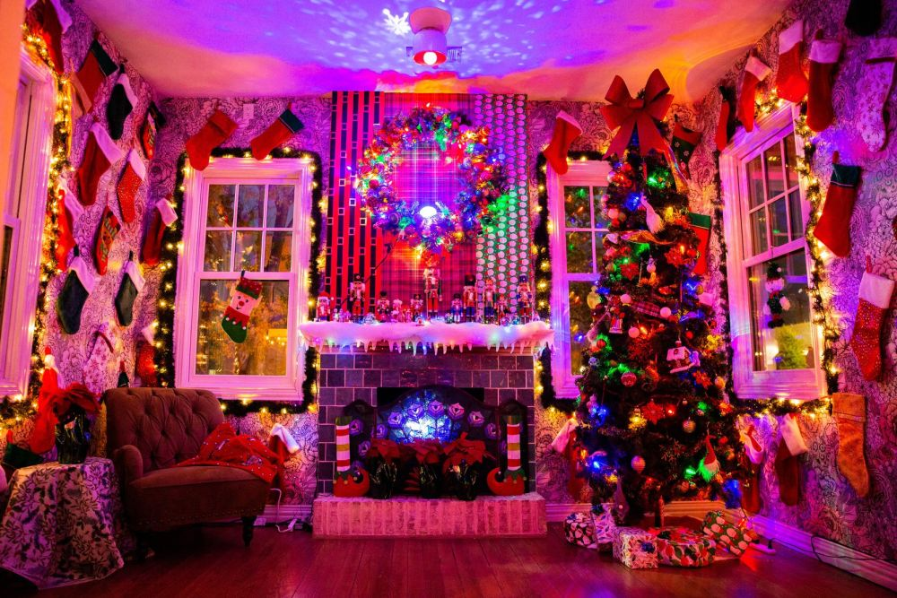 Gaudy? Maybe. The Tipsy Elf is designed as an over-the-top Christmas bar in Dallas' Oak Cliff.