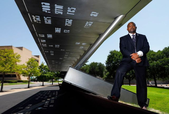 Dallas Police Sgt. Demetrick Pennie, president of the Dallas Fallen Officer Foundation, recently sued the largest police association in Dallas over allegations that it mishandled some of the $12 million donated to the families of officers killed July 7, 2016.