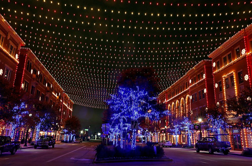 Merry Main Street will take place in Frisco Square, which has a nightly light and music show.