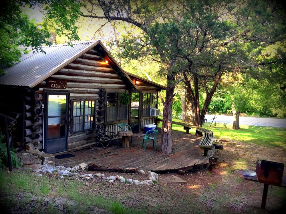 A stay at one of Cedarvale Mountainside Cabins' 19 units offers an opportunity to explore the Oklahoma wilderness.
