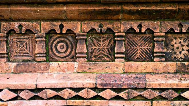 brick detail, gour, gaur, west bengal
