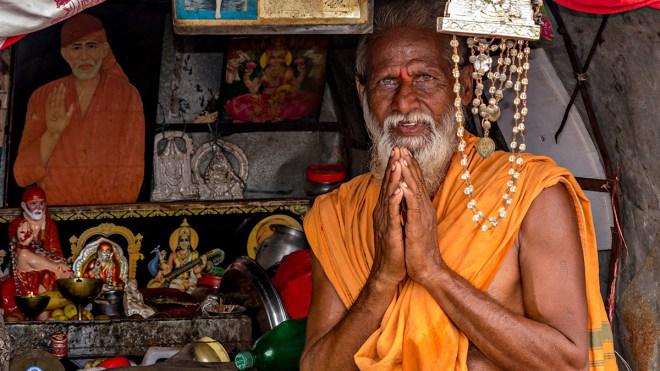a holy man, india