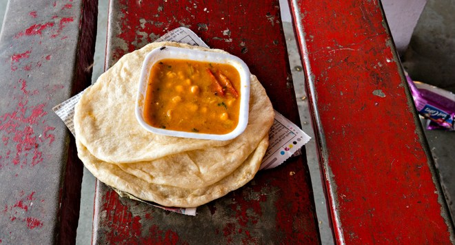 Breakfast at Pathankot Railway Station