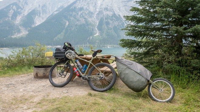Bike at Spray Lakes West CG