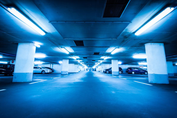 Parking lot lighting in Concord, CA installed