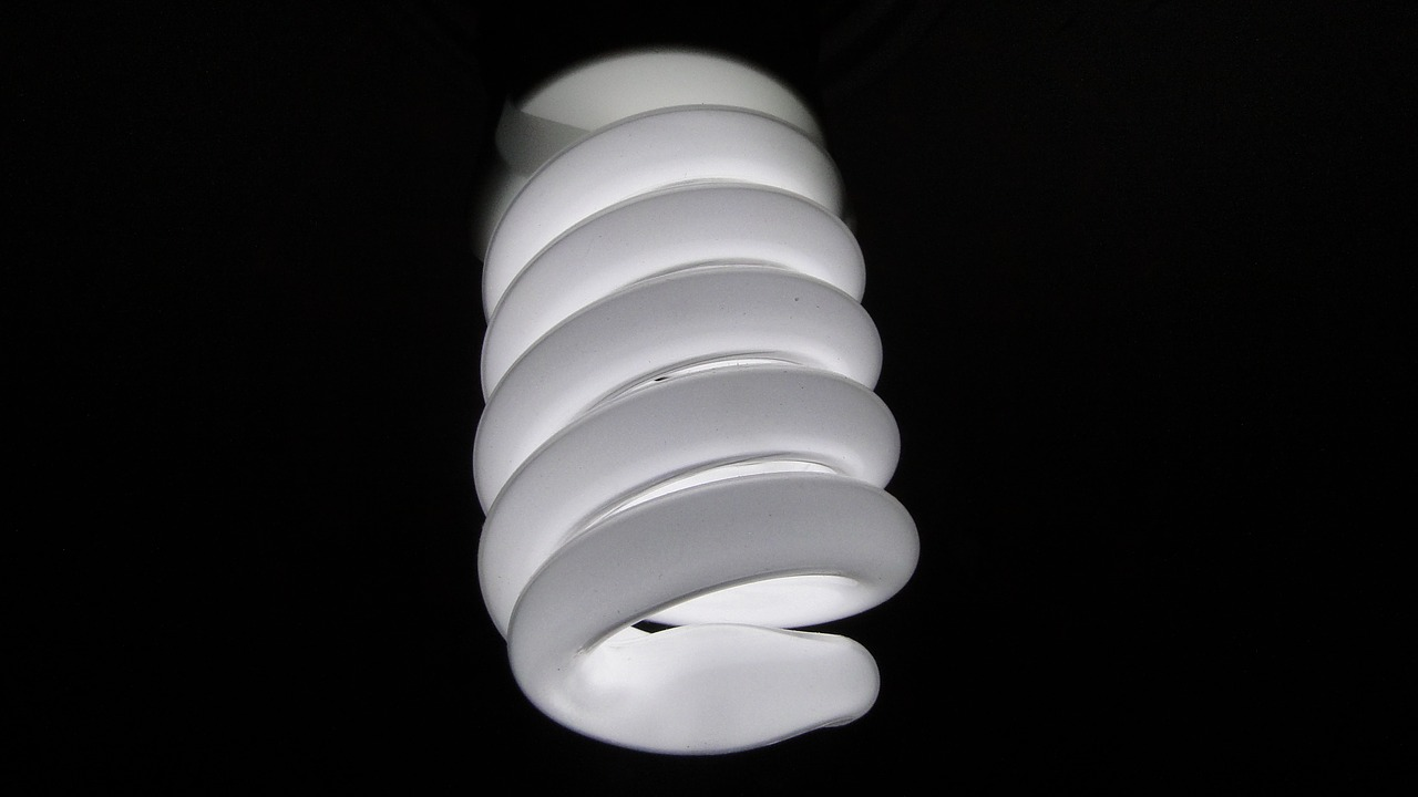 CFL light replaced with LED light.