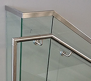 Morse Industries L Stainless Steel Handrail Kits Glass Rail | Stainless Steel Handrails Near Me | Metal | Cable Railing | Glass Railing Systems | Relaxdays Stainless | Staircase Railing