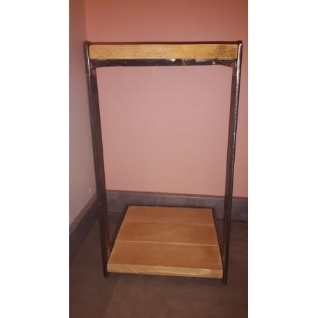 table de chevet en metal et bois