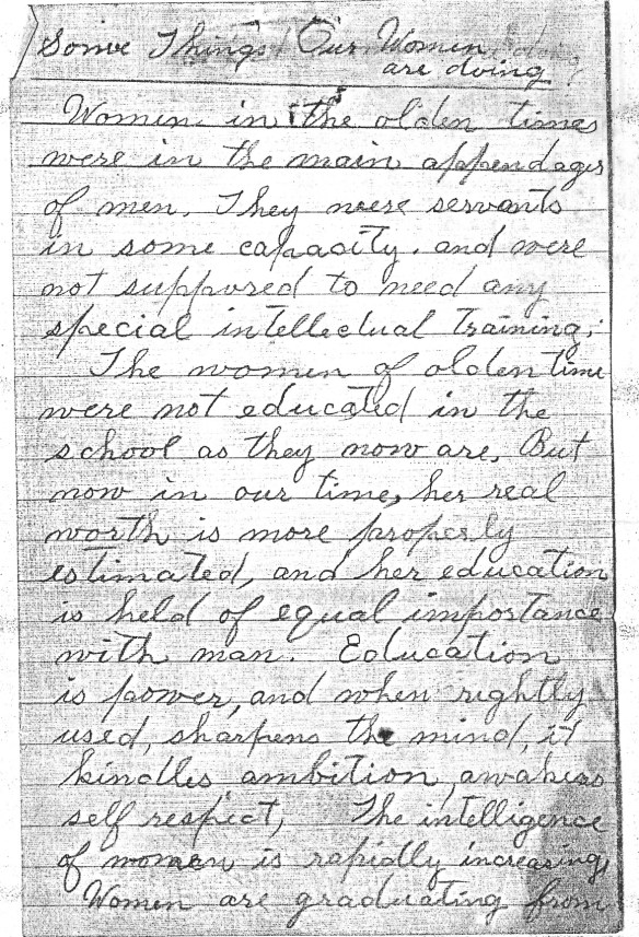 Eva Miller letter 1