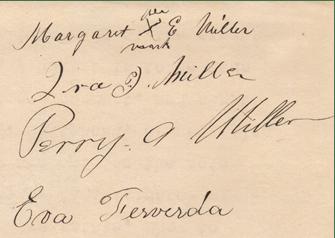 Eva's signature