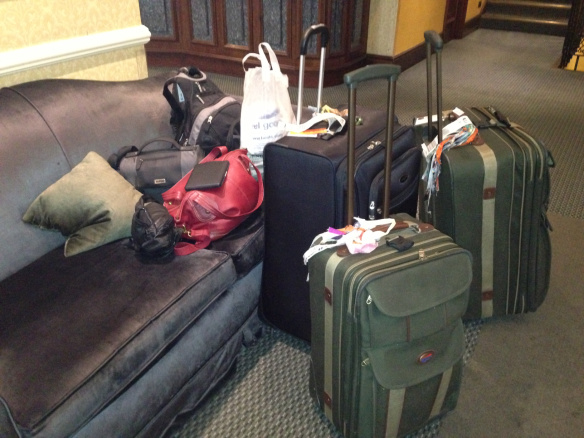 luggage in lobby