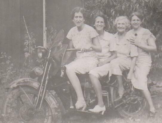 Lore women on motorcycle