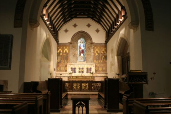 All Saints Waldershare interior