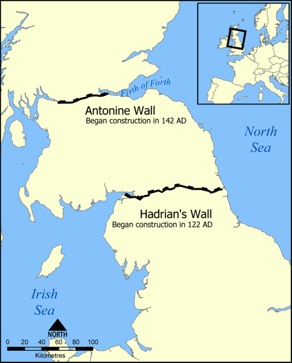 Antonine wall map