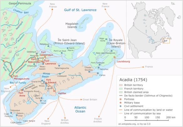 Acadia 1754