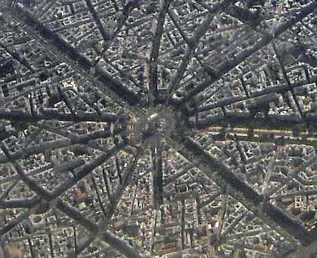arc de triomphe streets