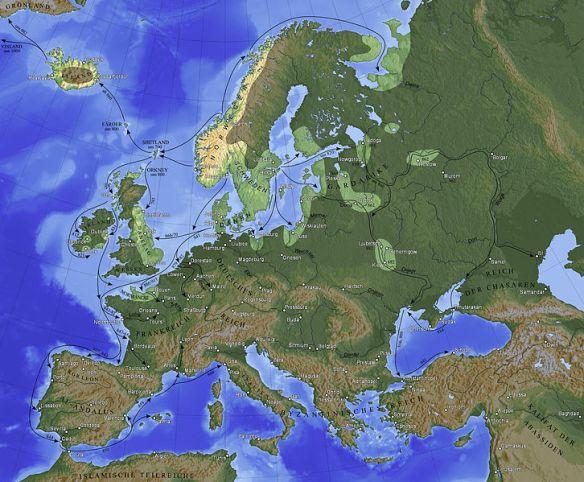 viking excursion map