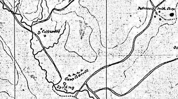 camp cottrell civil war map