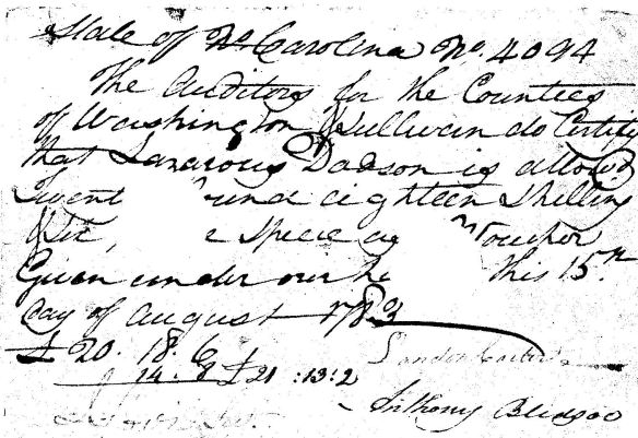 laz dodson rev war auditor record
