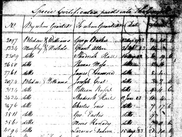 Laz dodson rev war pay record