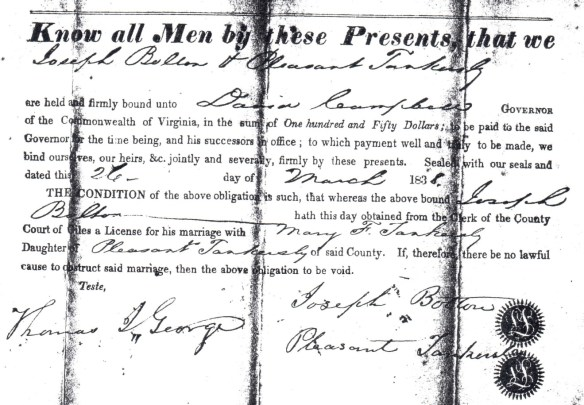 joseph bolton marriage
