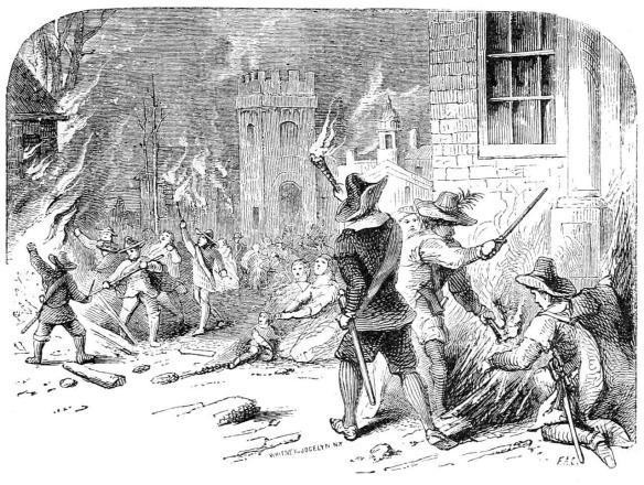 Bacon burning Jamestown