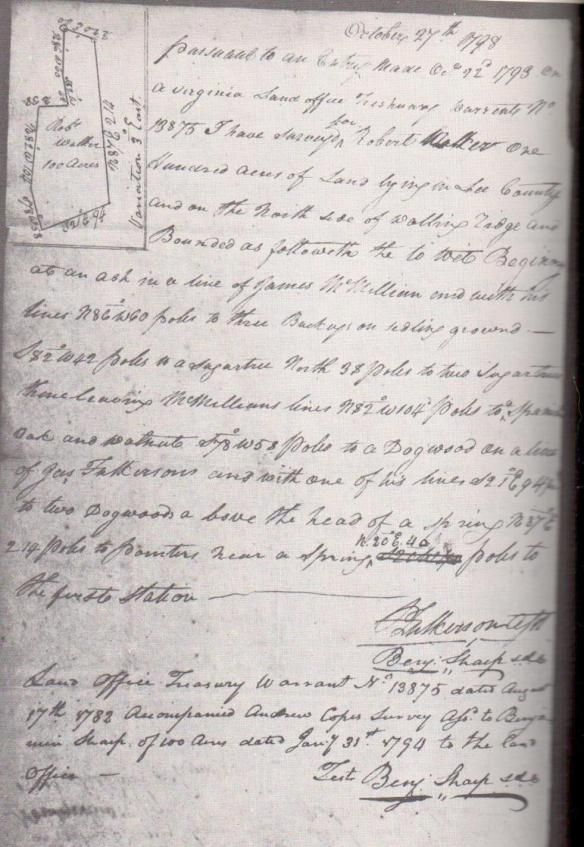 1798 survey Walker Muncy