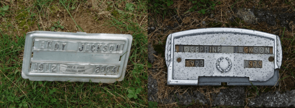 Andy and Josephine Jackson burials