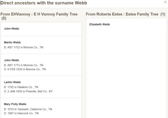 common surname compare 2