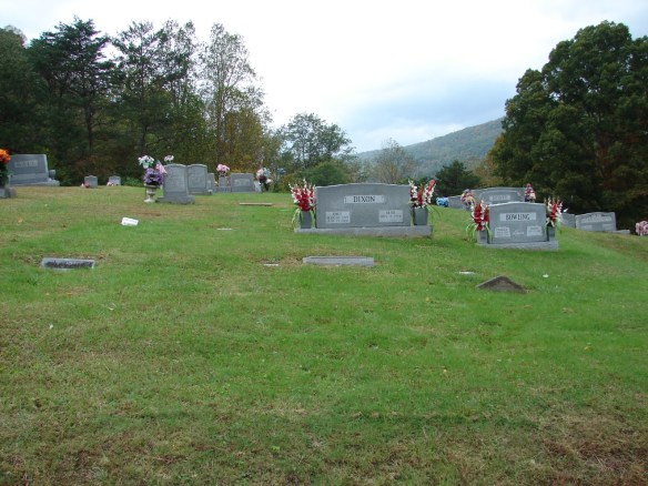 Creech cemetery view