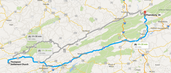 map Montgomery Co to Lee Co