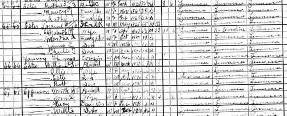 Estes 1900 census