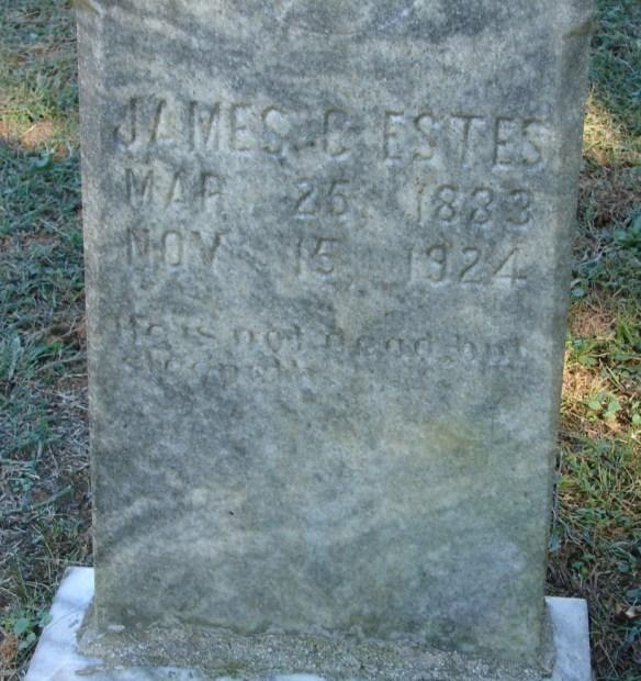 James Columbus Estes stone