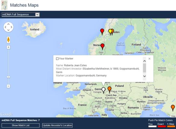 matches map