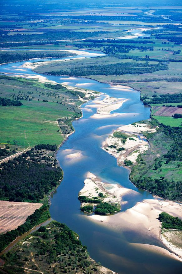 Red river aerial