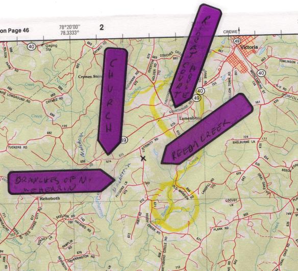 Luremia Estes Lunenburg map
