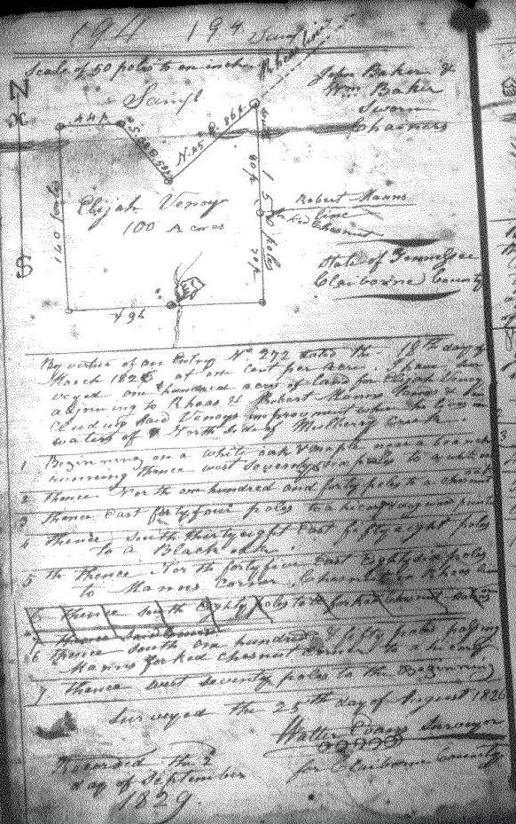 1829 Elijah grant