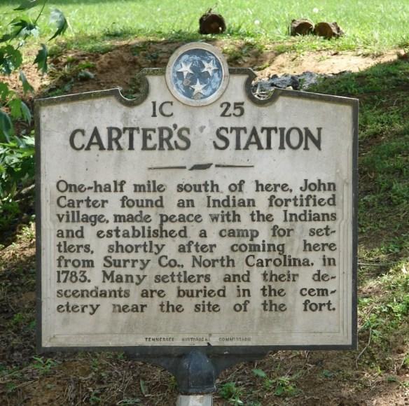 Carter's Station sign