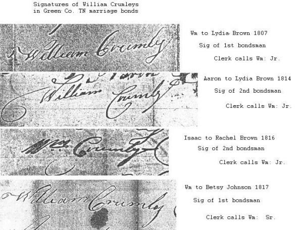 Crumley signature comparison