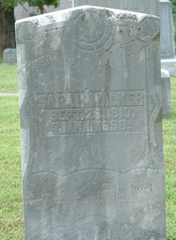 Sarah Crumley Walker stone