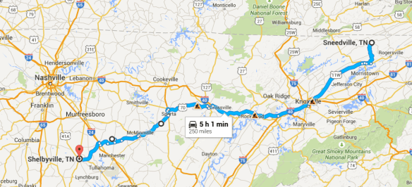 Shelbyville to Sneedville