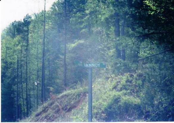 Vannoy road sign