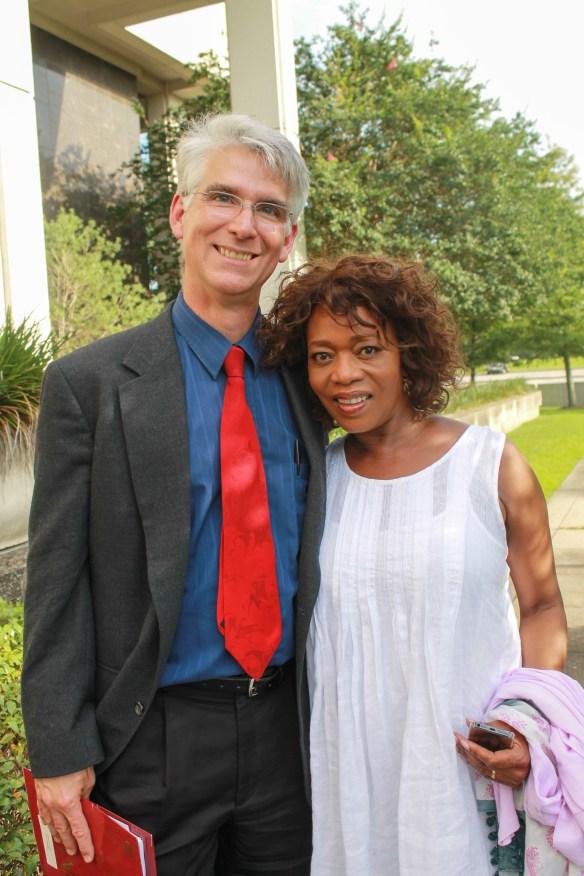 Alfre Woodard with Dr. Mark Schultz.