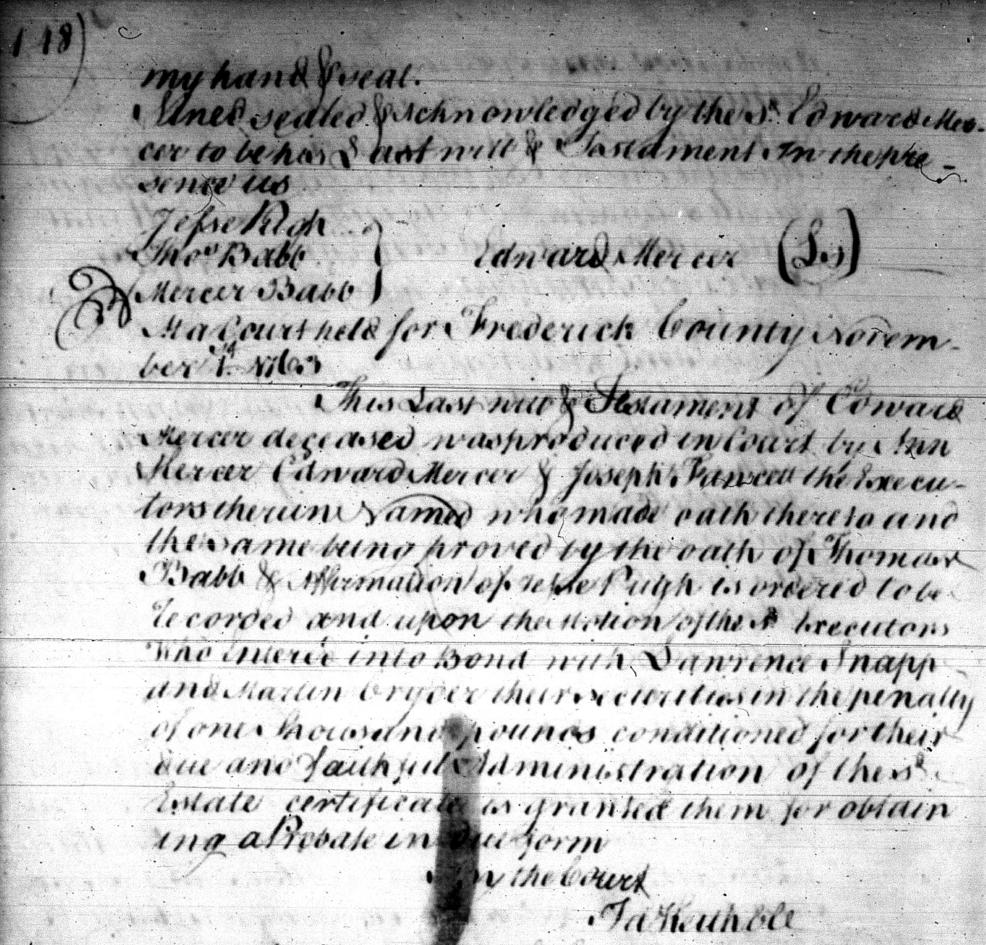 Edward Mercer (c1704-1763), Hard-Drinking Quaker, 52 Ancestors #90