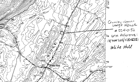 James Crumley topographic map