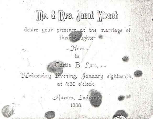 Nora Kirsch wedding invitation