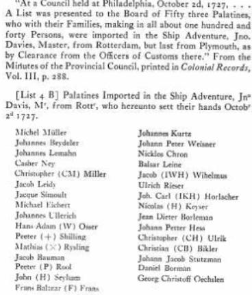 Ancestry 1727 list 2