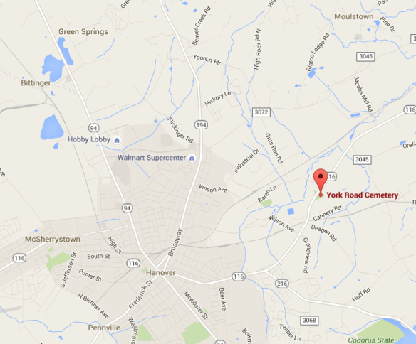 York Road Cemetery map